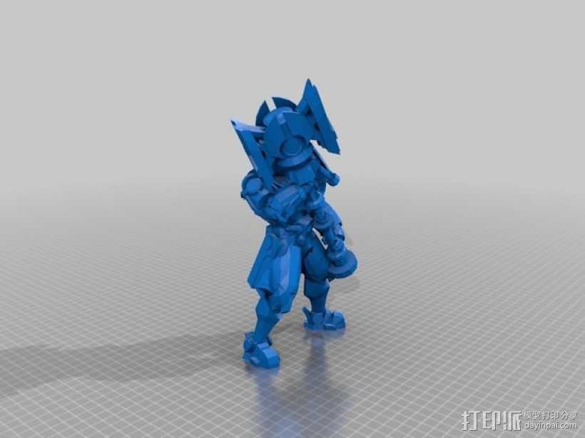 带有金属外壳的杰斯模型 3D模型  图2