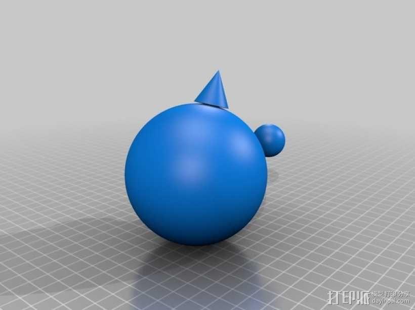 迷你球模型 3D模型  图1