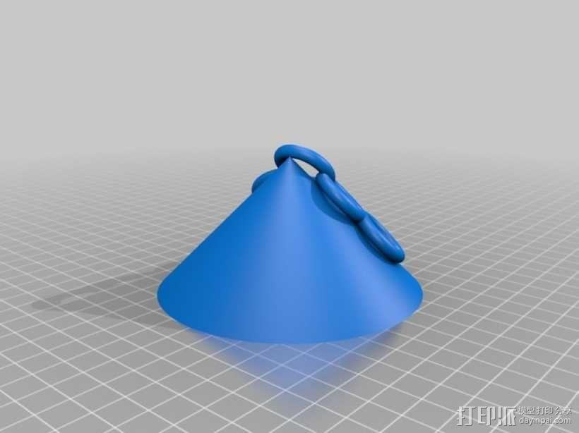 拱形顶棚模型 3D模型  图1