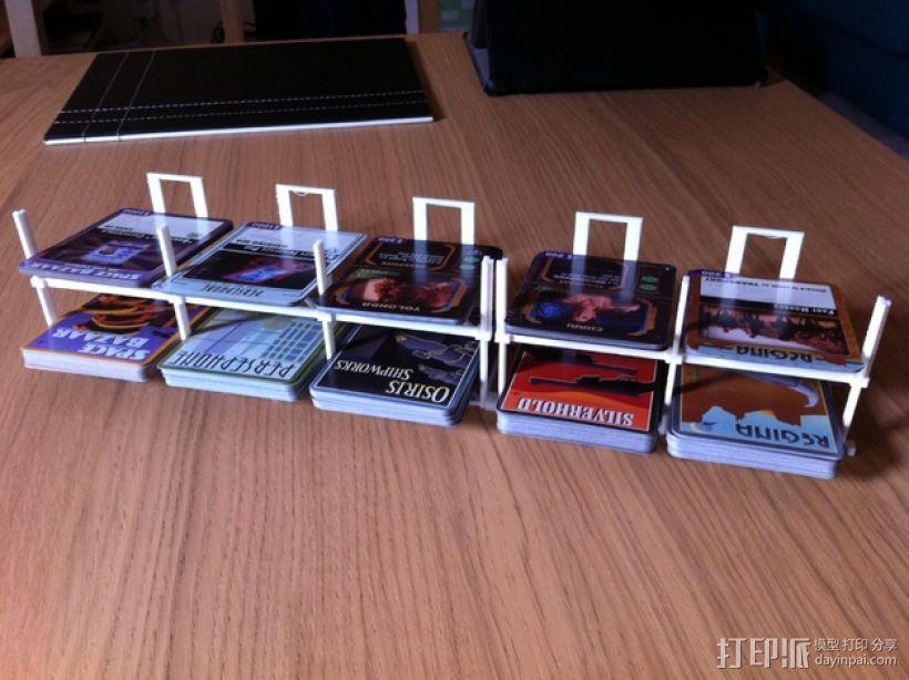 游戏牌卡架 3D模型  图1