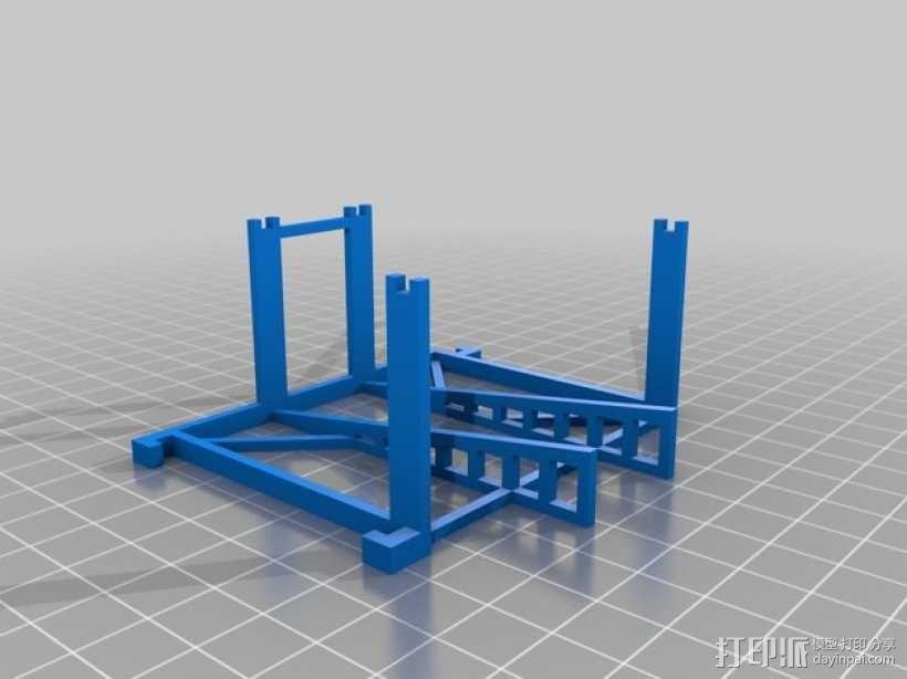 游戏牌卡架 3D模型  图5
