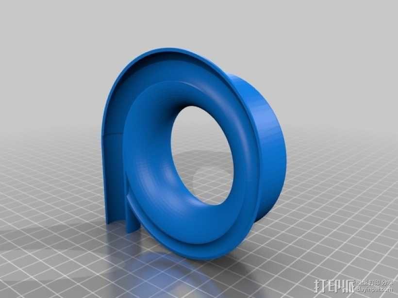 漩涡口哨模型 3D模型  图4