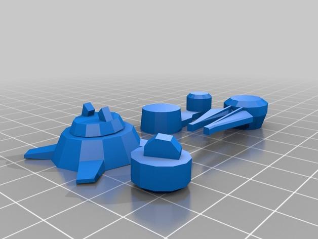 游戏《克隆战争》中的步行机 3D模型  图6