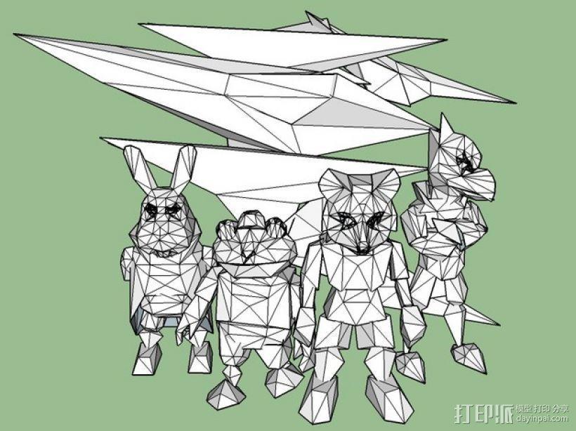 《星际火狐》玩偶 3D模型  图2