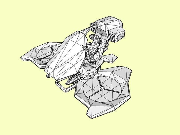 游戏《虚幻竞技场2004》中Manta飞机模型 3D模型  图1