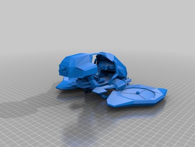 游戏《虚幻竞技场2004》中Manta飞机模型 3D模型  图2