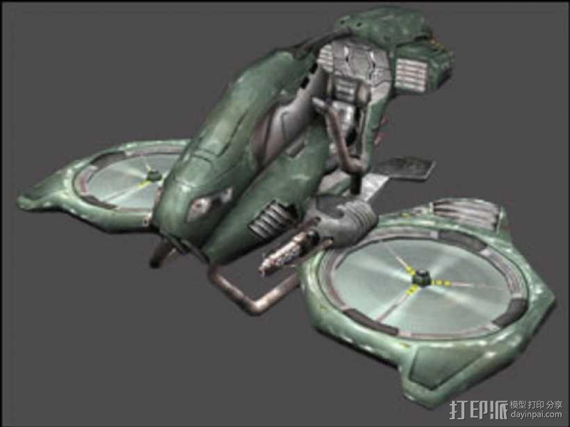 游戏《虚幻竞技场2004》中Manta飞机模型 3D模型  图3