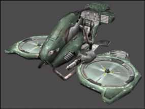 游戏《虚幻竞技场2004》中Manta飞机模型 3D模型