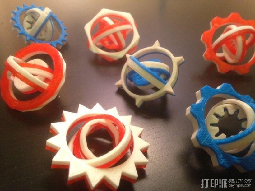 可定制化的数字陀螺仪 3D模型  图1