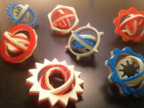 可定制化的数字陀螺仪 3D模型