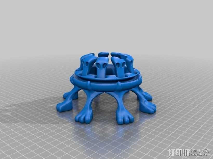 扑克牌架 3D模型  图2