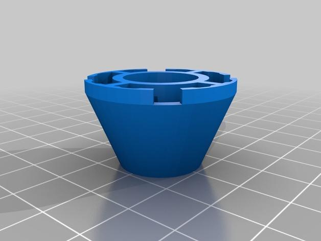 乐高积木锥顶 3D模型  图1