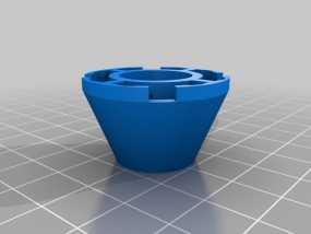 乐高积木锥顶 3D模型