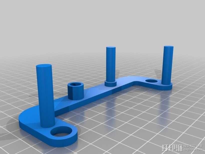 简易发动机装置 3D模型  图3