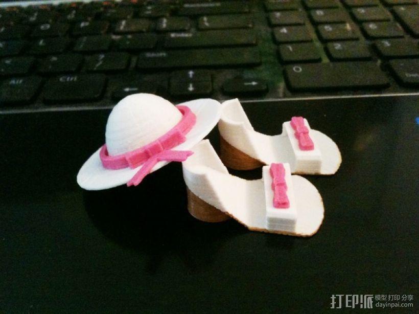迷你鞋帽 3D模型  图1