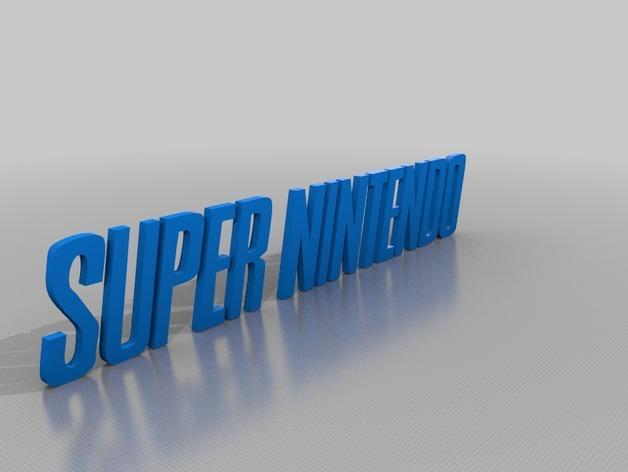 《超级任天堂》游戏标志 3D模型  图2