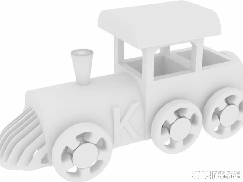 玩具火车头 3D模型  图1