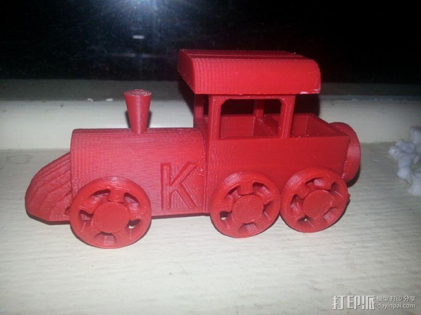 玩具火车头 3D模型  图2