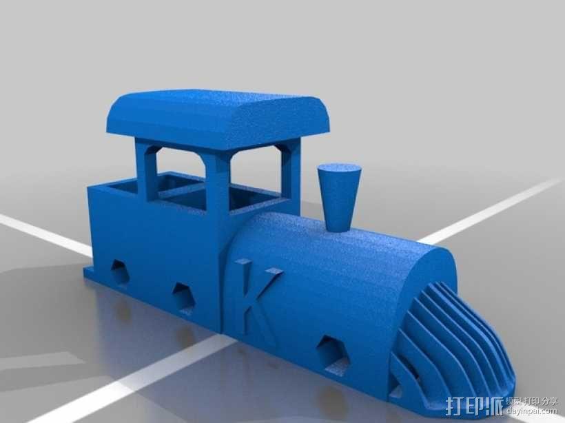 玩具火车头 3D模型  图3