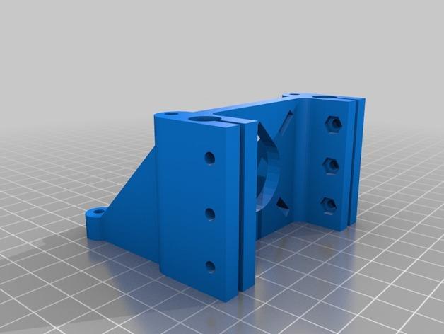 马达座构件 3D模型  图3