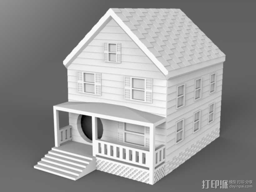 农舍型鸟巢 3D模型  图1
