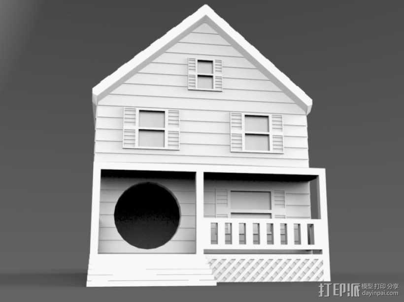 农舍型鸟巢 3D模型  图2