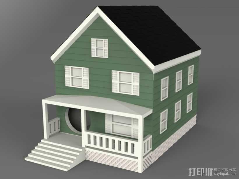 农舍型鸟巢 3D模型  图4