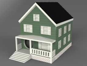 农舍型鸟巢 3D模型