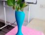 蓝色花瓶 3D打印制作  图2