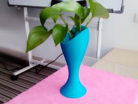 蓝色花瓶 3D打印制作