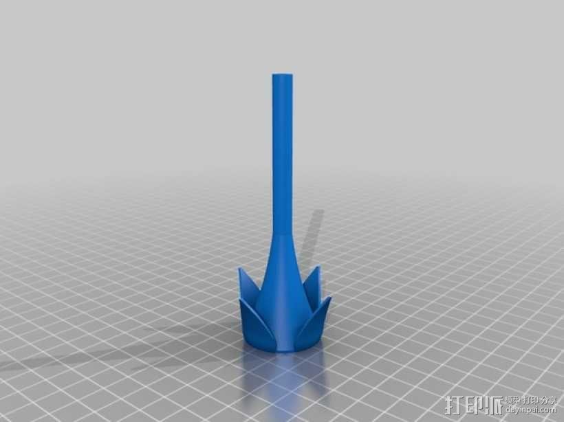 红色玫瑰花 3D模型  图2