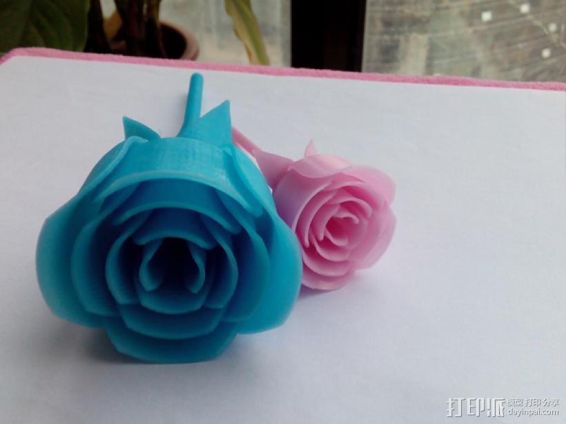 玫瑰花 3D打印制作  图2