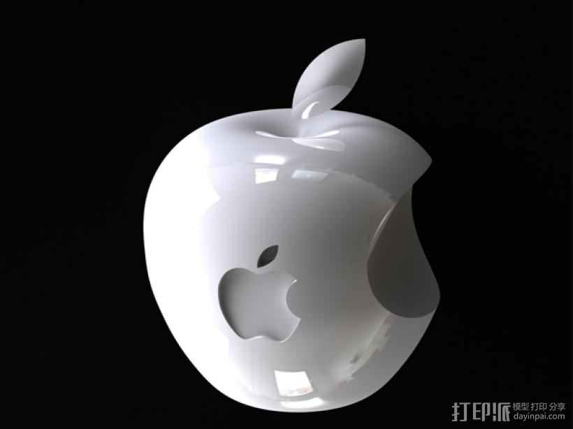 苹果标志 3D模型  图2