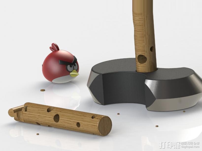 愤怒的小鸟 3D模型  图3