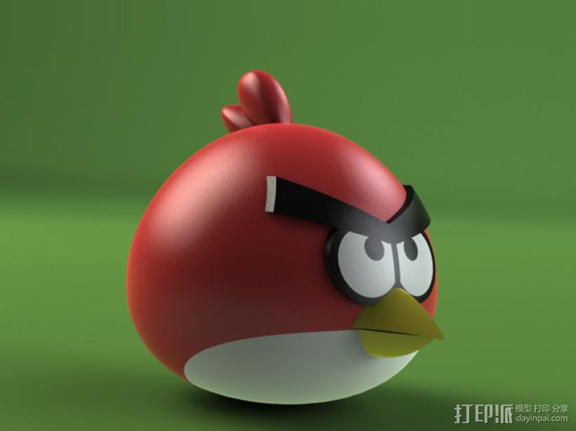 愤怒的小鸟 3D模型  图2