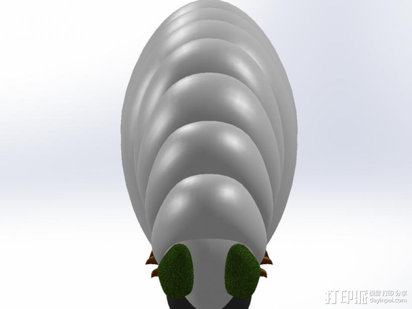 黄蜂幼虫 3D模型  图4