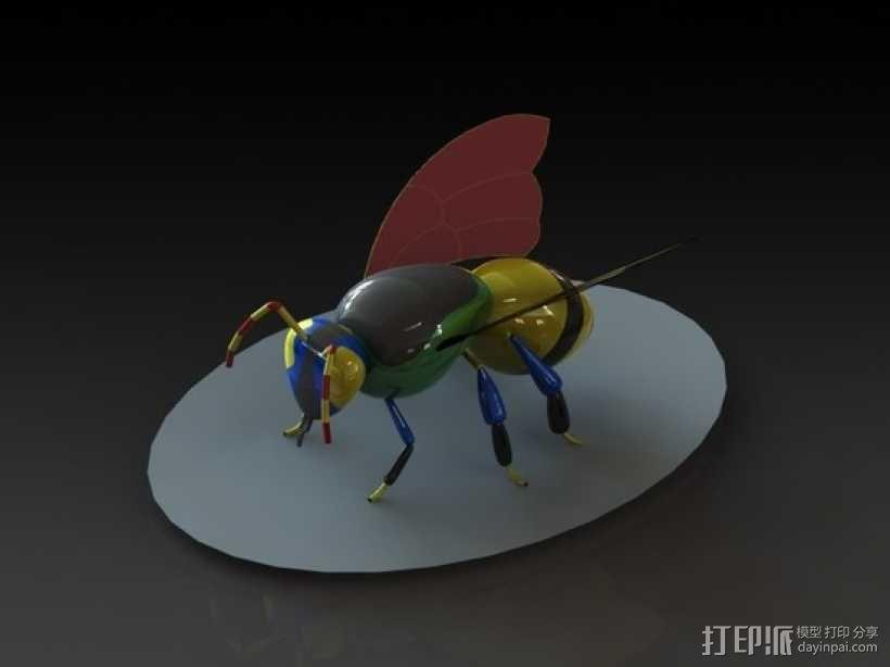 黄蜂 3D模型  图1