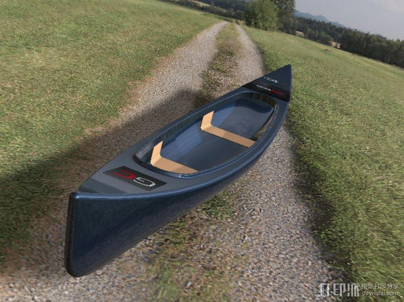 独木舟 3D模型  图2