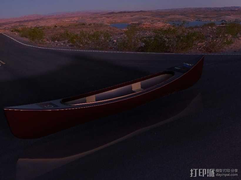 独木舟 3D模型  图3