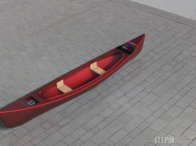 独木舟 3D模型  图1