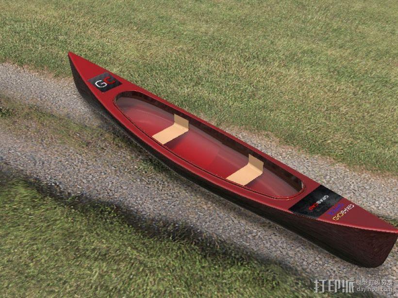 独木舟 3D模型  图4