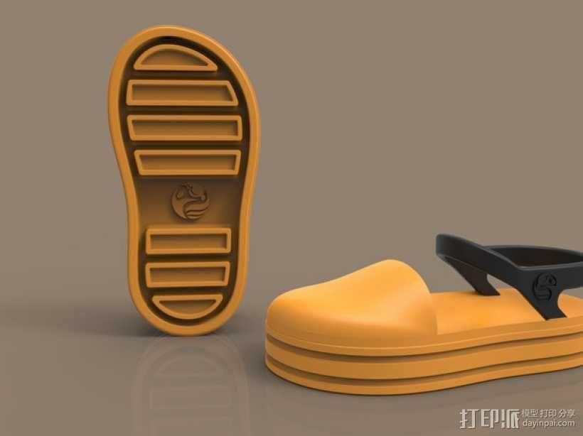 儿童鞋子 3D模型  图4