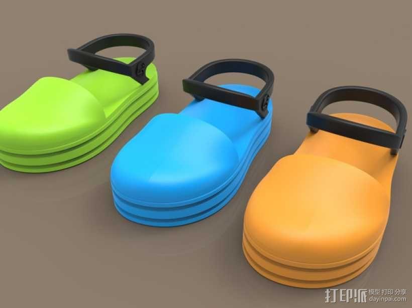儿童鞋子 3D模型  图1