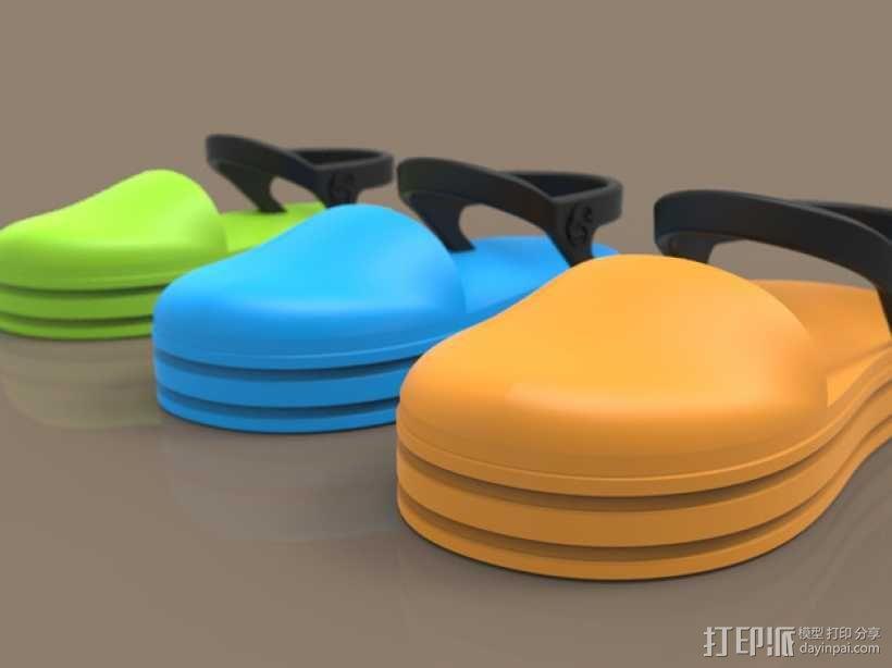 儿童鞋子 3D模型  图2