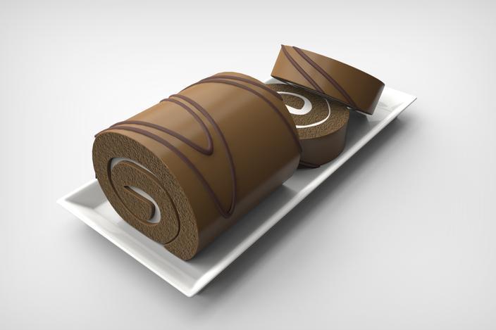 夹心蛋糕卷 3D模型  图3