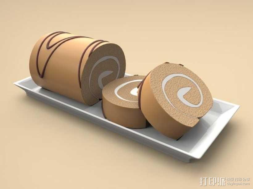 夹心蛋糕卷 3D模型  图5