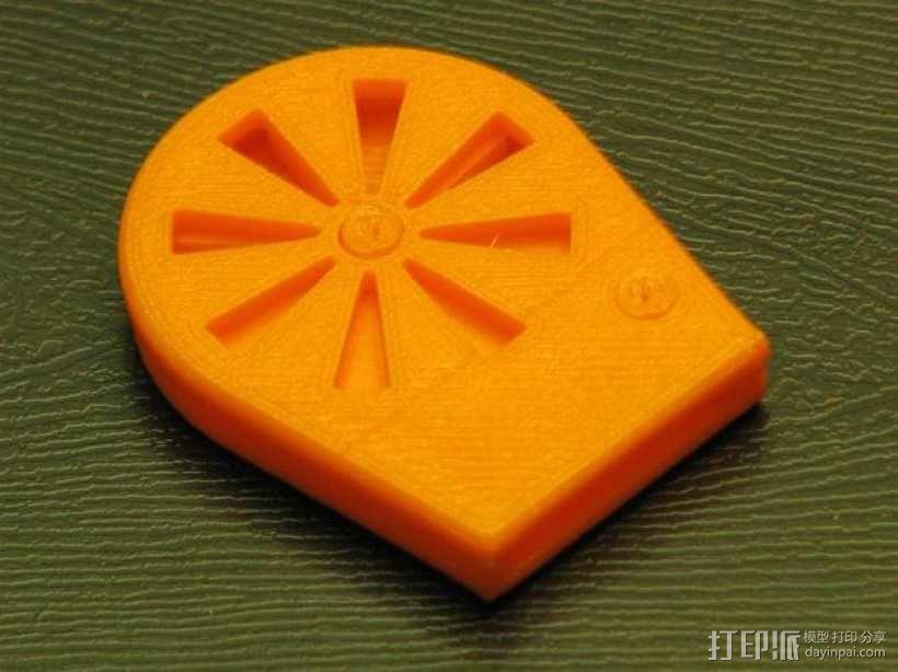 橙色口哨 3D模型  图1