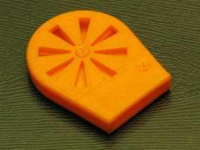 橙色口哨 3D模型