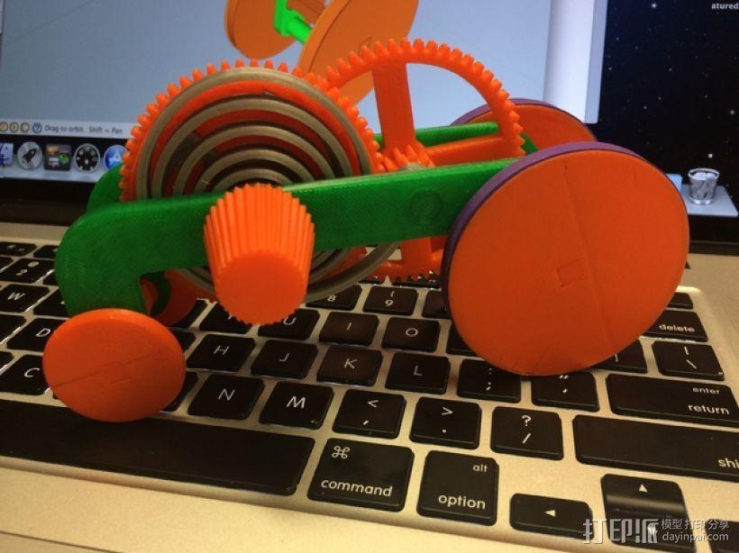 PLA汽车弹簧 滚动底盘 3D模型  图2
