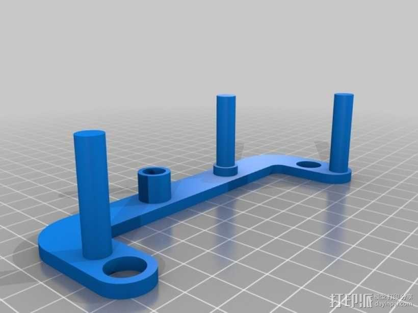 PLA汽车弹簧 滚动底盘 3D模型  图3